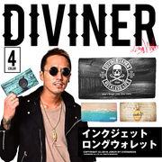 サーフテイストなデザイン★【DIVINER】インクジェットロングウォレット/メンズ 小物 長財布