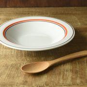 【特価品】スノートンオレンジ 21.1cmスープ皿[B品][美濃焼]