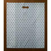 【激安在庫品】ファッションバッグ 水玉(白/黒) 巾45cm×高さ55cm×横マチ21cm