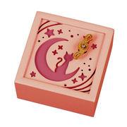 【 木製オルゴール (月) ♪星に願いを 】 【 木製Aメロディー 】