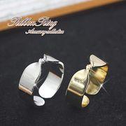 ★ひねりデザインが可愛い★リボンのリング/フリーサイズ★キュートな指輪 ゴールドorシルバー/rs-1897