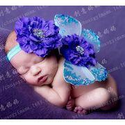 キッズ ベビー 写真撮影用/可愛い 蝶の翼 カラーバリ 飾り物 花柄
