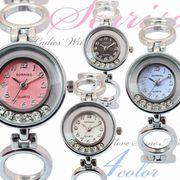正規品SORRISOソリッソ 可愛いまんまるケースのチェーン風ブレスレット腕時計 SR046L レディース腕時計
