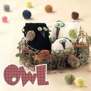 【おしゃれ 雑貨】OWL フクロウ 幸運 開運 ポーチ スマホ ポシェット ハンドメイド クラフト