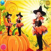 子供衣 ハロウィン ドレス ワンピース Halloween 演出服 お姫様 コスプレ衣装 魔女