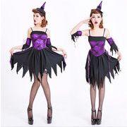紫 魔女 コスプレ ハロウィン衣装 コスプレ衣装 童話 魔女 コスプレ