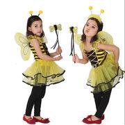 ハロウィン 妖精 蝶 コスプレ 子供 羽 羽根 ミツバチ ハチ はち 妖精 蝶 コスチューム