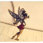 可愛い妖精のネックレス フェアリー アンティーク調 天使 エンジェル CN-315