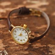 ◆[本革]細ベルト・シンプル腕時計/ウォッチ/アクセサリー/リアルレザー/シンプル/ベーシック◆424989