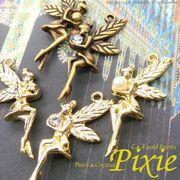 """★新掲載★L&A Original Parts★Gold&金古美★かわいい妖精チャーム♪160 """"pixie"""""""