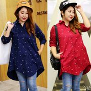 【sale606047】大きいサイズ☆フィッシュデザインチュニックシャツ LL~4L