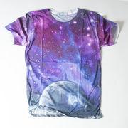 SPACE NINE クルーネック デザイン Tシャツ 宇宙 スペース