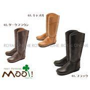 【Mooi! Feminine】 MF322 本革 プレーン ロングブーツ[16FW model] 全3色 レディース