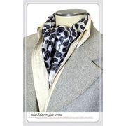 エレガント袋縫いペーズリー柄メンズ用100%シルクスカーフ 10122