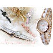 【SALE!!】Heaven Leef エレガント♪レディース ブレスウォッチ 腕時計 HL-1011