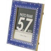 現代百貨 フォトフレーム メジャー 卓上・壁掛け兼用 L ブルー 2L判サイズ