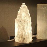 セレナイト原石ライト タワー型
