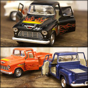 【1955 Chevy Stepside Pick-up w/printing 1:32(M)】ダイキャストミニカー12台セット★
