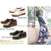【Mooi!】 MF255 本革 サイドゴア シューズ 全3色 レディース