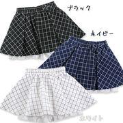 【2017年春物新作】ウィンドウペンパンツINスカート(100・110・120・130・140・150・160cm)