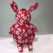【桜柄】ウサギ エコバッグ入荷しました。赤 収納型 ノベルティ