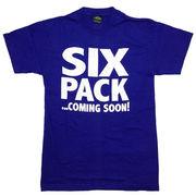 シックスパック Tシャツ 半袖 青 ブルー M 腹筋 筋トレ