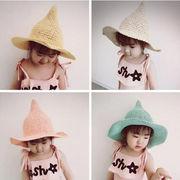 新品!大人気アイテム!子供手編み帽子★日除け帽子