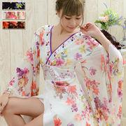 【再入荷】0558フラワーパワーネットロング着物ドレス 和柄 衣装 ダンス 花魁 コスプレ キャバドレス