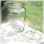 【Mr.PEANUTS JAR】大きいサイズで色々入る♪キャンディーポット♪ガラス ピーナツジャー L♪
