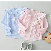 新品★トップス★子供★カジュアル ストライプ シャツ