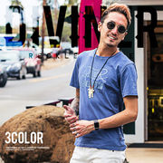 2017春夏新作★【DIVINER】Vintage Pigment T-shirt/メンズ カットソー トップス プリント ロゴ