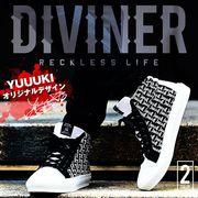 2017春夏新作★【DIVINER】オリジナルロゴミドルカットスニーカー/メンズ 靴 シューズ ストリート