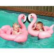 子供フラミンゴ 浮き輪新アイテム登場 ★プール用品★海で遊び浮き輪★キッツ用