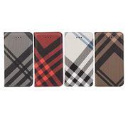【iPhone SE/5s/5/6/6s/6 Plus/6s Plus】手帳型  おしゃれ チェック柄 カード収納 アイフォン 保護ケース