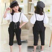子供服 春夏 tシャツ+パンツ 女の子 長袖 2点セット キッズ カジュアル 120-160