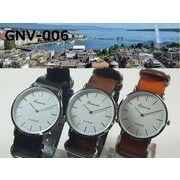 ★日本製ムーブ使用★電池寿命3年以上★ GENEVAユニセックス腕時計 NATOレザーベルト