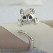 可愛い猫リング 猫好きにお勧め キャット 猫 動物 指輪 AX-197