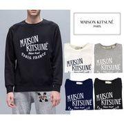 MAISON KITSUNE メゾンキツネ メンズ スウェット ロゴ クルーネック SWEAT PARIS ROYAL【FW16M706】