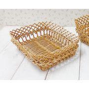 アンソレイエ すかし編みバスケット  レクタングル