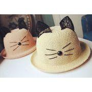 かわいい猫★レディース帽子★夏にぴったり