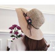 花付き帽子★ビーチにぴったり★日除け帽