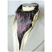 エレガント袋縫いメンズ用100%シルクスカーフ 1035