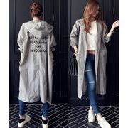 パーカー 刺繍 ゆったり 韓国風 ブラック/グレー #82628