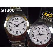 STELITEメンズ腕時計 メタルウォッチ 日本製ムーブメント カレンダー表示 10気圧防水