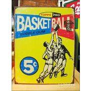 アメリカンブリキ看板 バスケットボール Topps1957