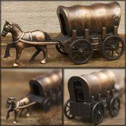 アンティークシャープナー 鉛筆けずり ♪ レトロ  幌馬車♪
