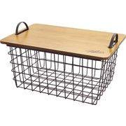 現代百貨 ピクニックバスケット Gather ワイヤーバスケットテーブル ナチュラル A187NT