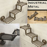 配管をモチーフ【Industrial Metal】インダストリアル ウォール 3段シェルフ ★