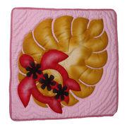ハワイアンキルト クッションカバー 35×35 ホヌ ピンク