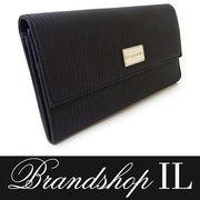 ブルガリ 二つ折り財布 財布 メンズ レザー ミレリゲ PVC 黒ブラック シルバー プレート